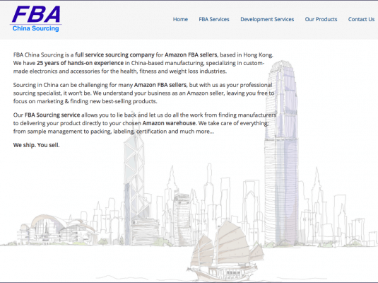 FBA China Sourcing accueil