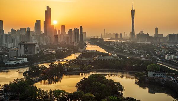 Delta de la rivière des perles Chine